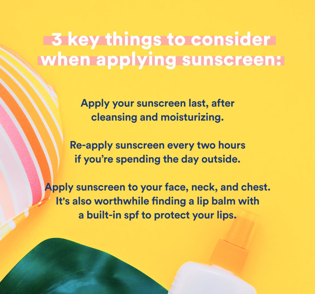 3 key things to consider when applying sunscreen