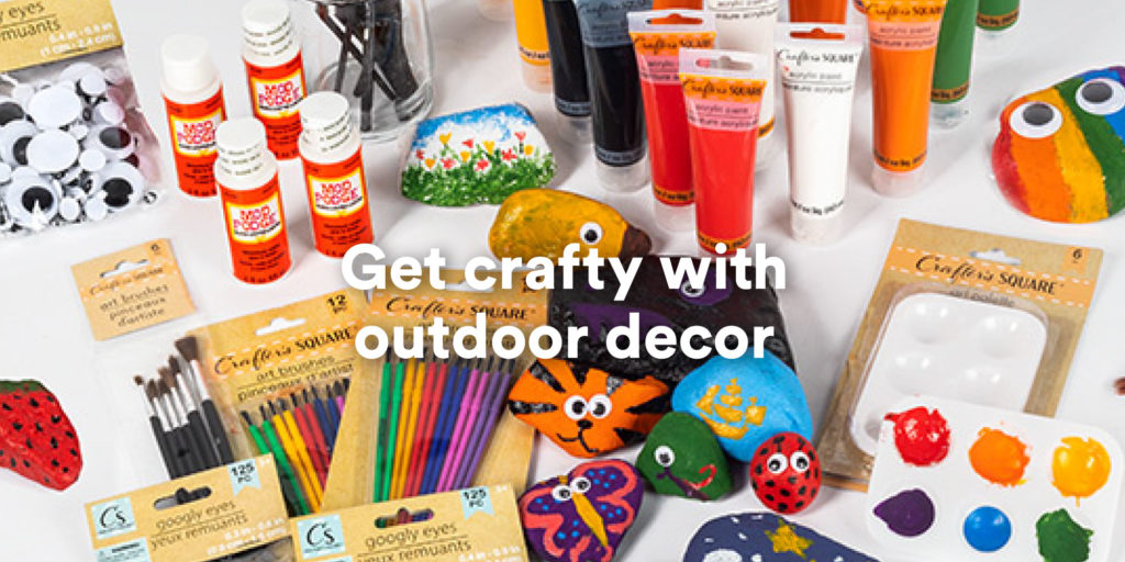Get crafty with outdoor decor
