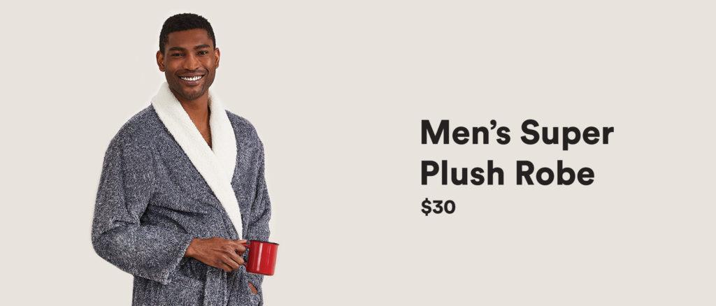 Men's Super Plush Robe – $30