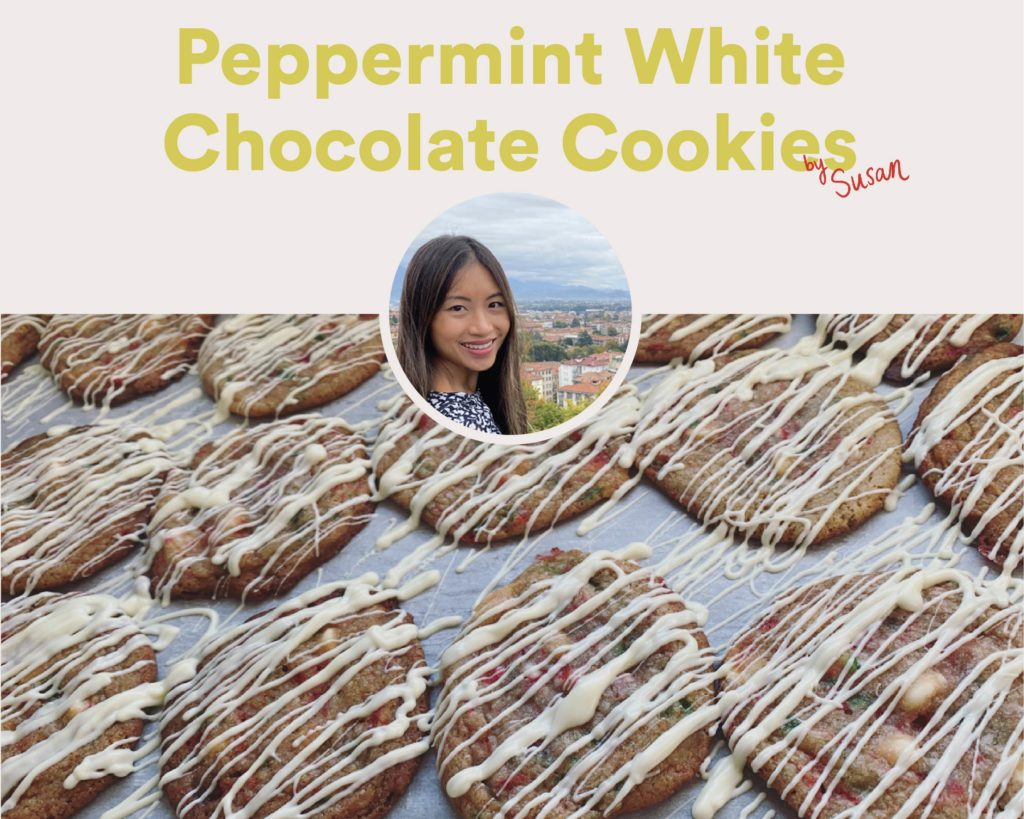 Peppermint White Chocolate Cookies by Susan