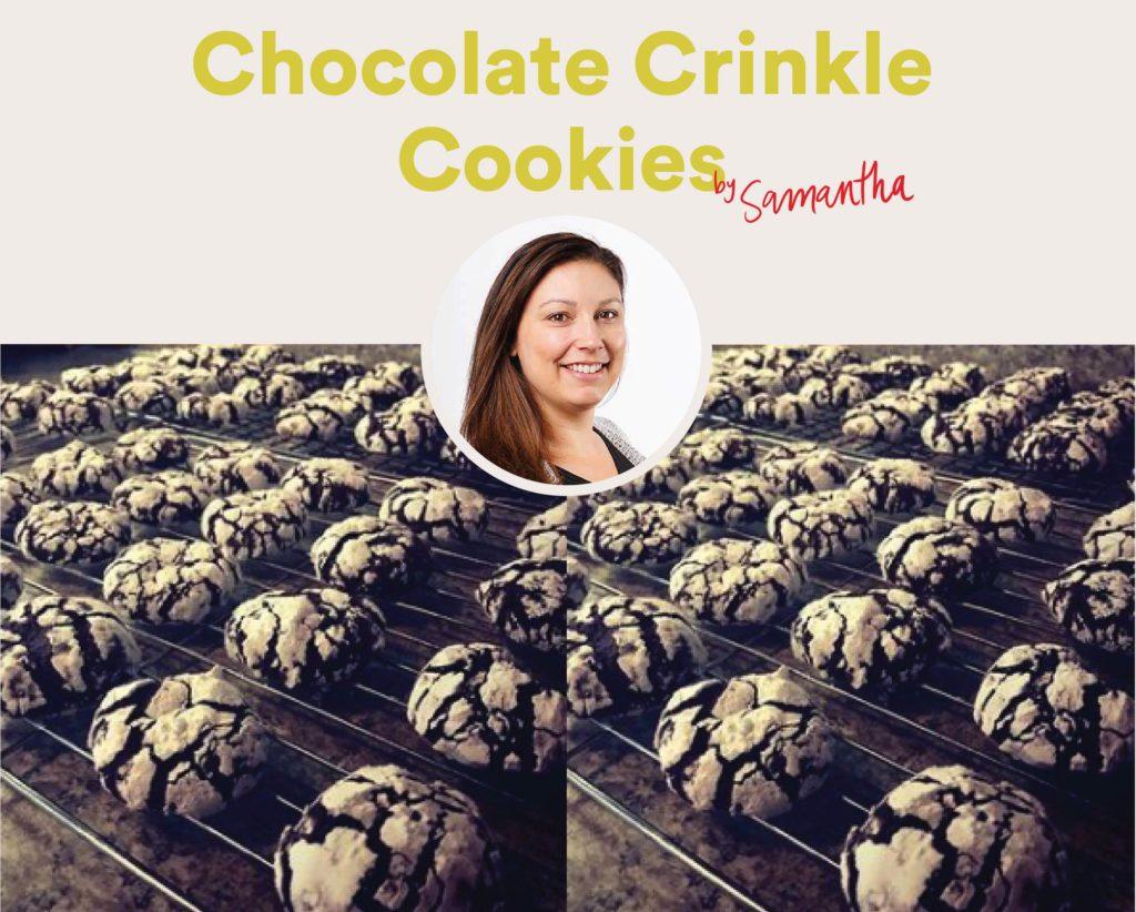 Chocolate Crinkle Cookies by Samantha