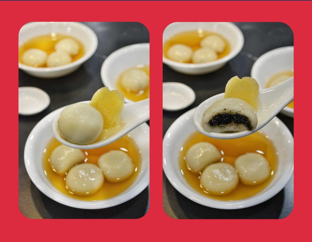 Tong Yuen (glutinous rice balls)