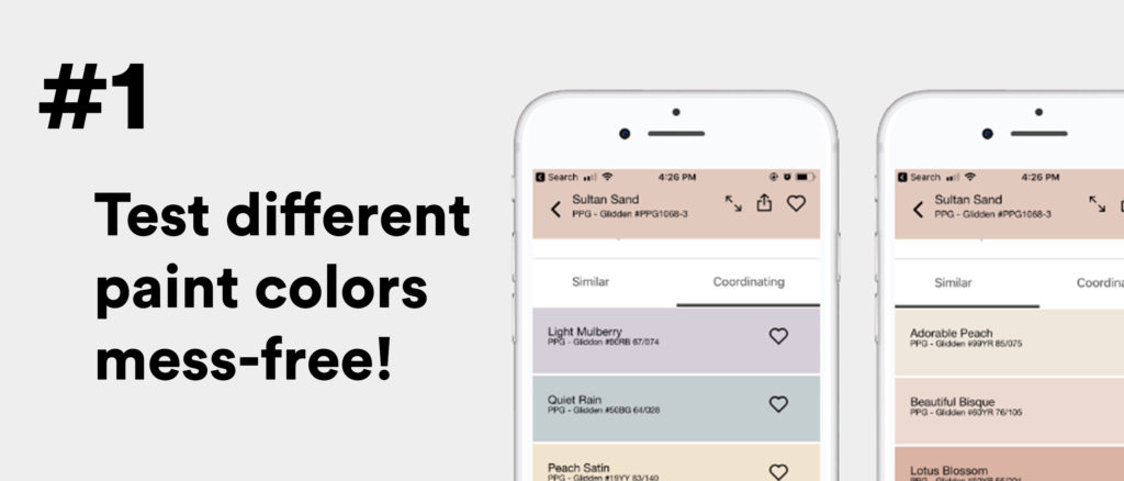 #1 Test different paint colors mess-free!