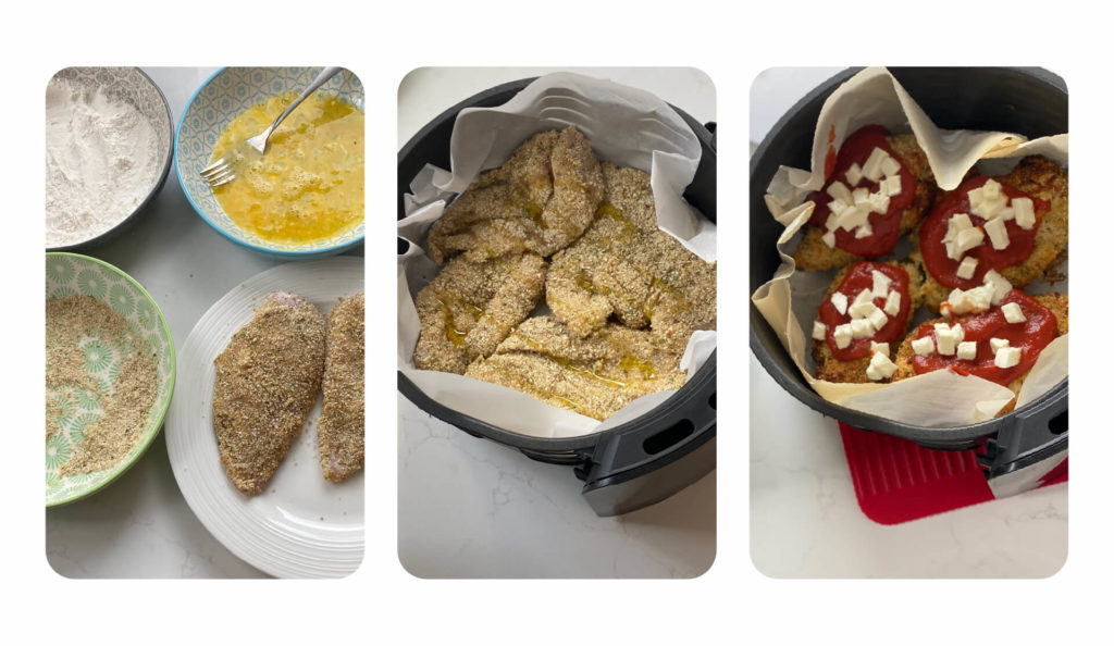 Ingredients you will need and air fryer instructions.