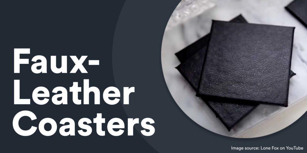 faux-leather coasters